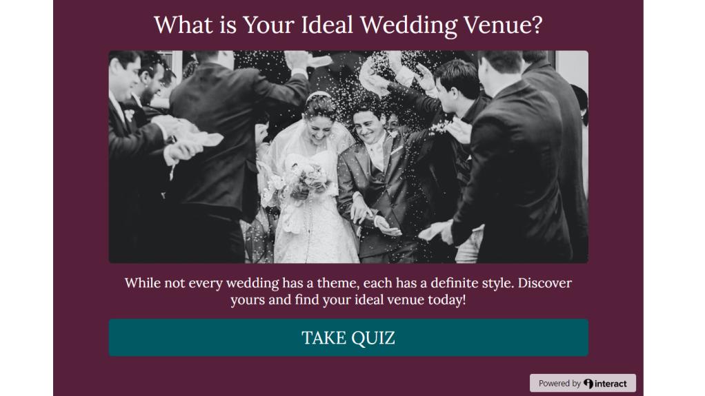 ideal wedding venue quiz screenshot